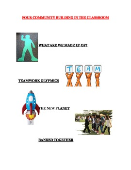 Classroom Community Building - Banded Together/New Planet/Team Olympics/Made Of