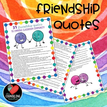 Classroom Community Building with Friendship Quotes