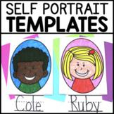 Classroom Community Building Self Portrait Templates