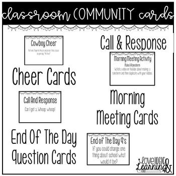 Classroom Community Cards