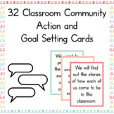 Classroom Community Cards with Goal Setting Worksheets and