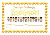 Classroom Community Certificate - Respect