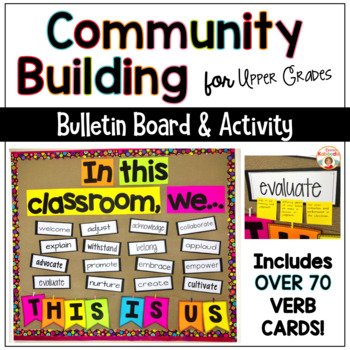 Back to School Bulletin Board - Community Building Activities THIS IS US!