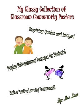 Classroom Community (Poster Collection--MANY to choose from!)
