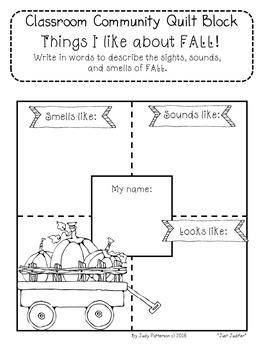 Classroom Community Quilt Blocks