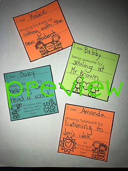 Classroom Community Sticky Notes / Post-it Notes