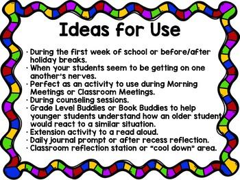 Classroom Community Team Building FREEBIE! - Scenarios to Model Social Skills