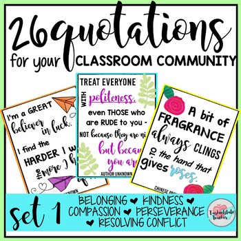 Classroom Community Themed Posters Set 1
