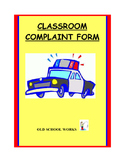 Classroom Complaint Form