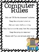 Classroom Computer Rules Posters