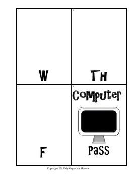 Classroom Management Computer Center Schedule Cards