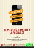 Classroom Computer Usage Sign