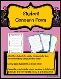 Classroom Concern Form for Students