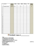 Classroom Conduct Chart for documenting student behavior