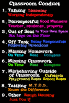 Classroom Conduct Poster