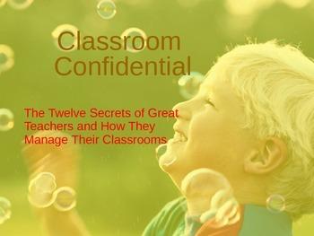 """Classroom Confidential"" Classroom Motivation/Management T"