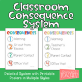 Classroom Consequences Poster - A System for Consistent Co