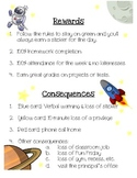 Classroom Consequences - Space Theme for a Regular Classroom