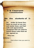 Classroom Consittution Scroll