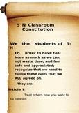 Classroom Consittution Scroll