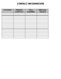 Classroom Contact Form (editable)