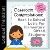 Classroom Contemplations