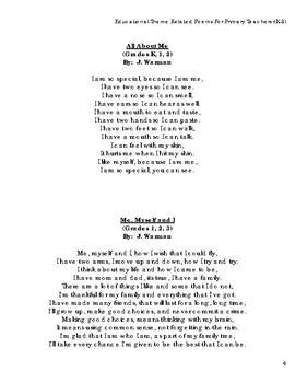 Classroom Content Related Thematic Poems Resource