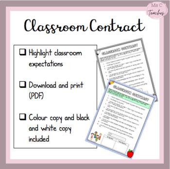 NO PREP - Classroom Contract