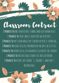 Classroom Contract - Uneditable