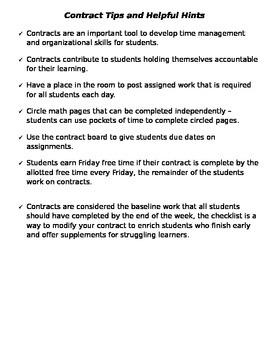 Classroom Contracts
