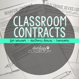 Classroom Contracts | Classroom Management