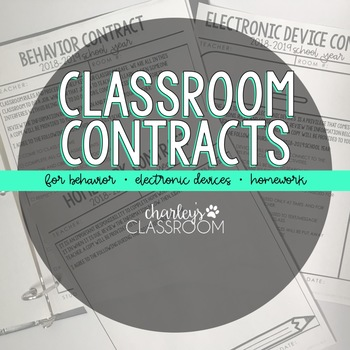 Classroom Contracts | Classroom Management