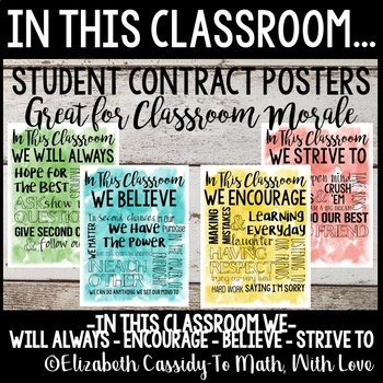 In This Classroom We... Classroom Constitution Posters-Student Morale