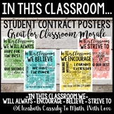In This Classroom We... Classroom Constitution Posters-Stu