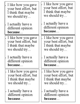 Classroom Conversation and Discussion Cards K-8