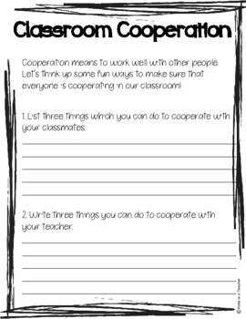 Classroom Cooperation
