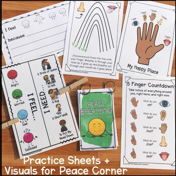 Classroom Coping Skills Lesson Plan and Visuals
