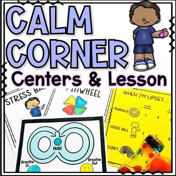 Calm Down Corner Coping Skills Lesson and Centers