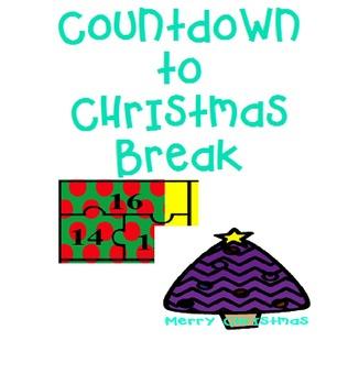 Classroom Countdown to Christmas Break