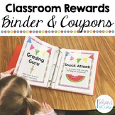 Classroom Reward Binder and Coupons - Positive Behavior System