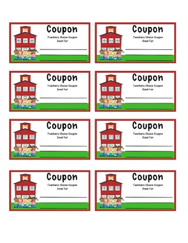 Classroom Coupon Rewards for Kids