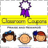 Classroom Praise and Reward Behavior Coupons