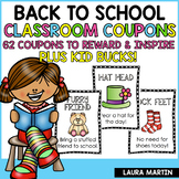 Reward Coupons for Positive Behavior | Back to School
