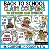 Reward Coupons for Positive Behavior | Back to School