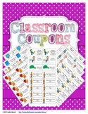 Classroom Reward Coupons - 82 Different Coupons for Behavior Management