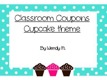 Classroom Coupons - Cupcake Theme