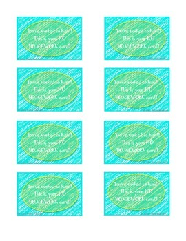 Classroom Coupons Freebie