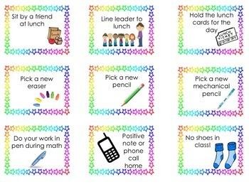 Classroom Coupons Incentive/Rewards