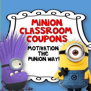 Classroom Coupons Minion Style!-Editable!