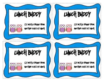 Classroom Coupons - Owl Theme